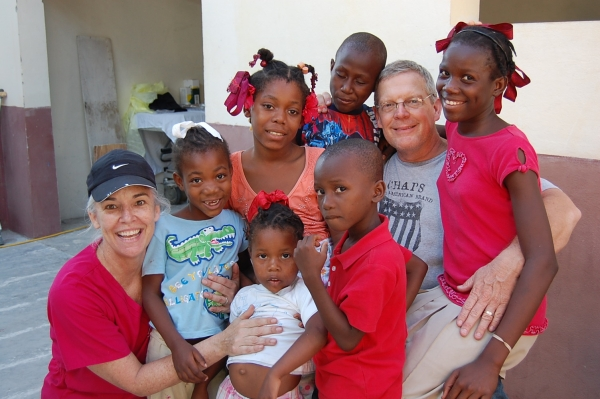 Stacey & Toby Torrens (Tampa, FL) enjoying the children at Eden Garden Orphanage